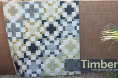AGF Stitched with Kimberly - Timber - A Free Quilt Pattern