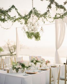 3,937 отметок «Нравится», 16 комментариев — The Knot (@theknot) в Instagram: «A chandelier draped in greenery adds instant glamour to an all-white color palette. #theknot 📷:…»