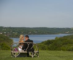 One of many gorgeous lakeview wedding sites at Big Cedar in Branson.