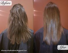 Brazilian Blowout before and after. This is the SAME haircut