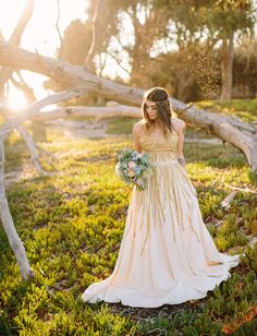 Bohemian Watercolor Wedding Inspiration