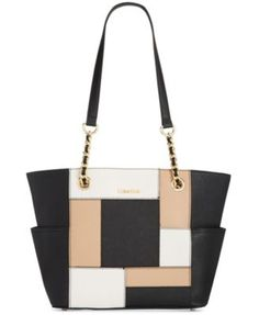CALVIN KLEIN Calvin Klein Saffiano Leather Tote. #calvinklein #bags #shoulder bags #hand bags #leather #tote #