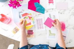 Bright, colorful, mood board (and video) for @methodhome dream home. We are going for 'California Scandinavian' with poppy colors and simple lines. And be sure to check the blog on 10/19 for the full reveal. #stylebymethod #ad