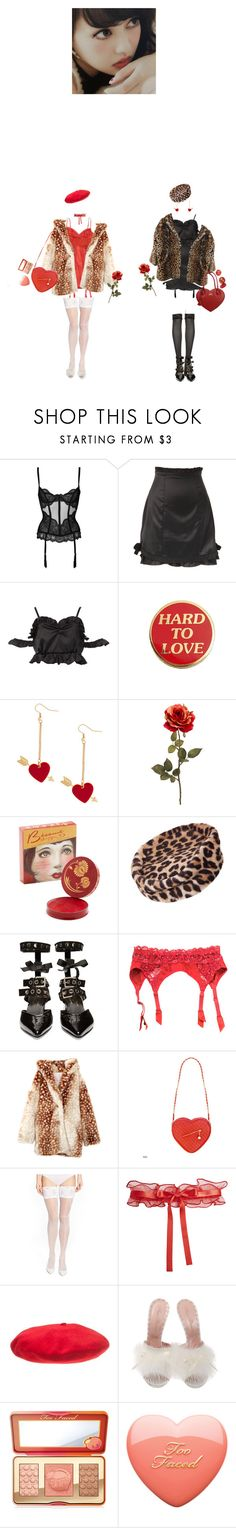 """""""Late thanks for over 700 followers!"""" by bubblegumbae ❤ liked on Polyvore featuring L'Agent By Agent Provocateur, Christian Dior, Robert Clergerie, Jessica Simpson, Wolford, La Perla, Betmar, Agent Provocateur, Too Faced Cosmetics and red"""