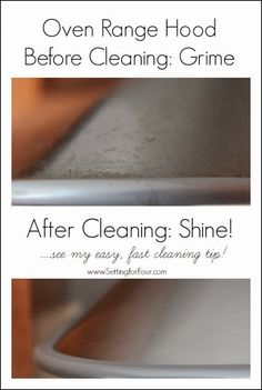 Amazing cleaning tip to clean an oven range hood in 10 minutes flat! It's so easy and you have it in your home now!