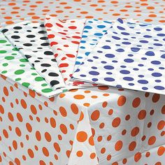 Polka Dot Tablecloths - OrientalTrading.com
