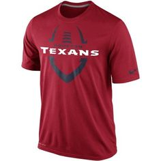 Mens Houston Texans Nike Red Legend Icon Performance Crew T-Shirt