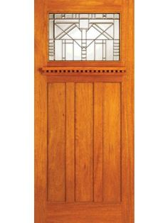 Mahogany Craftsman Style Entry Doors for Arts and Crafts Home by AAW Exterior Craftsman Style Front Doors, Craftsman Door, Modern Craftsman, Craftsman Homes, Arts And Crafts Furniture, Arts And Crafts House, Home Crafts, Exterior Doors With Glass, Wood Exterior Door