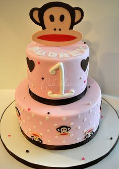 This cake is the perfect mix of Hepburn and Paul Frank! Love it!