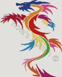 Dragon cross stitch