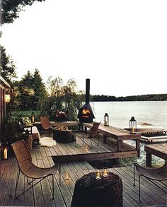 10 outdoor spaces that will make your neighbors jealous House Designs Exterior jealous neighbors Outdoor Spaces Outdoor Rooms, Outdoor Gardens, Outdoor Living, Lakeside Living, Outdoor Bedroom, Lakeside Cottage, Outdoor Decor, Porches, Pergola