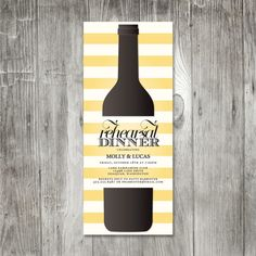 Wine Bottle Invitation by pinklilypress on Etsy, $2.50...striking design. This would be cute for a dinner party or wine tasting