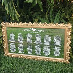 Gold mirror seating chart