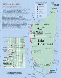 Cozumel Maps, Street Maps of Cozumel
