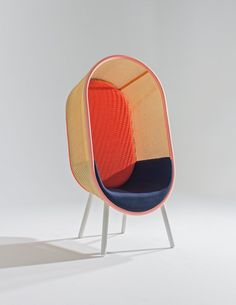 modernism of 60s-inspired cocoon lounge chair by kevin haviid and martin kechayas