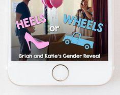 Heels or Wheels (Flat Bed Truck) Snapchat Geofilter #genderreveal