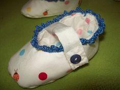 Für Babys - Taufbabyschuhe - ein Designerstück von kleinerSonnenstrahl bei DaWanda