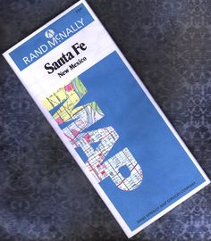 1987 Santa Fe Map New Mexico  by Rand McNally  Like by BunnysLuck, $4.00