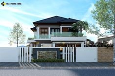 Luxurious two-storey modern villa - Pinoy House Plans Online Architecture, Architecture Magazines, Amazing Architecture, 2 Storey House Design, Two Storey House, Roof Styles, House Styles, Double Storey House Plans, Small Villa