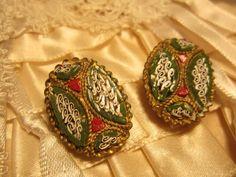 Italian Micro Mosaic Jewelry | Hallmarked V VILLA Italy Micro Mosaic Vintage by Roadsidebridge