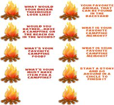 Campfire Conversation Starters for Family Night Fun - Stuffed Suitcase Campfire Quotes, Campfire Games, Camping Games Kids, Camping Activities, Camping With Kids, Family Activities, Camping Theme, Camping Crafts, Family Camping
