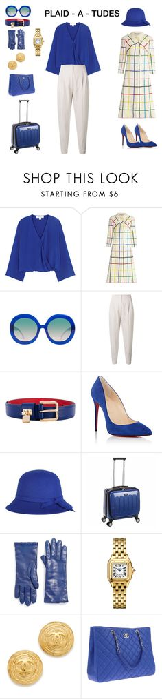 """Plaid-A-Tudes"" by scolab ❤ liked on Polyvore featuring Diane Von Furstenberg, Mary Katrantzou, Alice + Olivia, MaxMara, Dolce&Gabbana, Christian Louboutin, Saks Fifth Avenue Collection and Chanel"