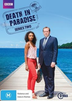 Death in Paradise. -- I really like this show. :) It's a good entertaining murder mystery, not too graphic, and in a beautiful island setting. Interesting characters, too.