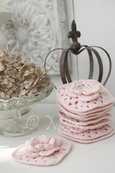 Granny flowers - How to make on my blog..