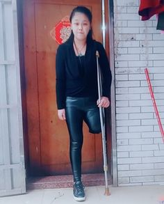 Amputee Lady, Normal Girl, Daily Video, Leather Pants, Channel, Singer, Asian, Leggings, Model