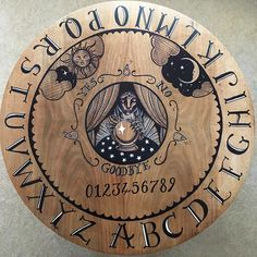 Ouija Board Coffee Table Laser Printed On Paper And Transferred - Ouija coffee table