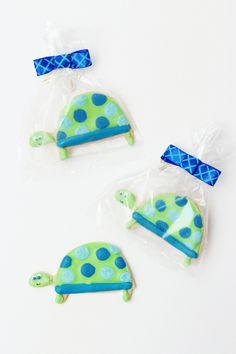 Polka Dot Turtle Cookies for Boys 1st Birthday | Sweet Kiera