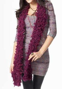 Crochet Wild Child Scarf free pattern.