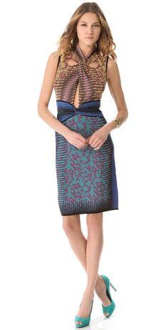 M Missoni Space Dye Cutout Dress |