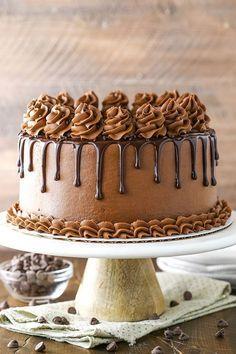 Easy Moist Chocolate Cake, Chocolate Hazelnut Cake, Amazing Chocolate Cake Recipe, Best Chocolate Cake, Chocolate Recipes, Homemade Chocolate, Chocolate Frosting, Chocolate Drip Cake Birthday, Chocolate Truffles