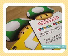 Convite Super Mario   Super Mario Invitation