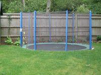 Sunken trampoline. Great for kids!! Much safer :)
