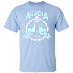 Acadia National Park Maine Vintage T Shirt Men Women