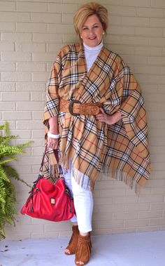Fashion over 40 Blanket wrap   @50isnotold.com