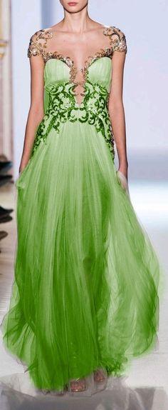 Green - Zuhair Murad - http://www.stylebistro.com/