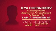 """#Speaker Spotlight: Ilya Chesnokov   He'll have 2 cool talks be sure to join him at http://ift.tt/2aLqOyk """"Last summer a new JavaScript standard came out - EcmaScript 2015 or ES 6. It was a lot of fun for me to see that features that are so common for us in Perl world has finally come to Javascript."""" """"I'll tell about my experience in developing and optimizing of a Perl program on Raspberry PI (model B) showing how I managed to reduce run time of an XML parser from 30 to 1 seconds."""" #perl…"""
