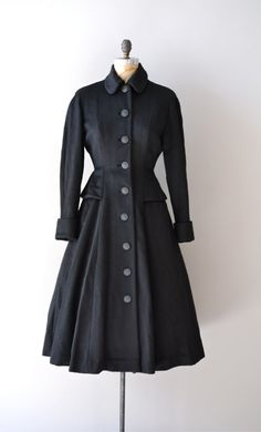Vintage 1950's wool princess coat