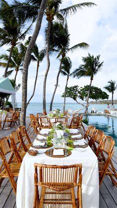 Tables at wedding