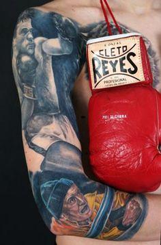 Realism Sports Tattoo by Stephane Chaudesaigues Sport Tattoos, Time Tattoos, World Tattoo, Tattoos Gallery, Skin Art, Color Tattoo, Portrait, Tattoo Photos, Tattoo Artists