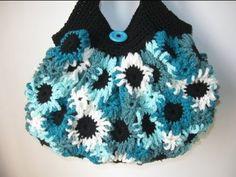 ▶ Crochet Flower Purse Tutorial 1 - Making the Flowers - YouTube