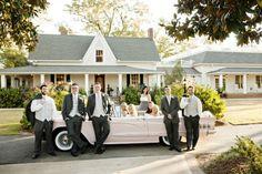Wedding Party in Vintage Car