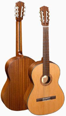 My Hanika classical guitar which I have owned and loved for 12 years. Cedar top, mahogany back and sides. Spanish cedar neck, rosewood fingerboard.
