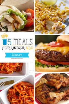 Free Weekly Meal Plans - 5 Meals for Under $30 at Walmart Based on Weekly Sales & Coupons