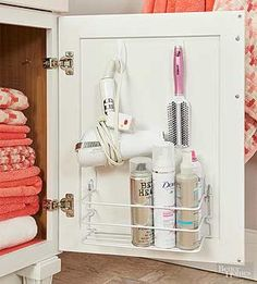 Declutter your bathroom with these simple storage tricks for organizing towels, toiletries and more.