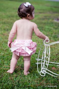 Ruffled Baby Bloomers (Diaper Covers) - pink delight style