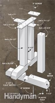 Pedestal details - How to Build an Outdoor Table The beauty and toughness of stone at a fraction of the cost Read more: http://www.familyhandyman.com/masonry/how-to-build-an-outdoor-table/view-all